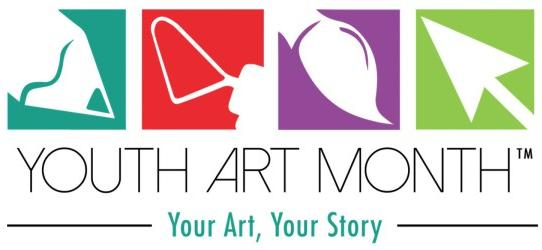 Youth Art Month 2019 Banner